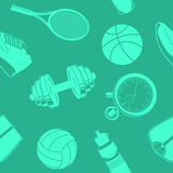 Sport seamless pattern. Stock Photography