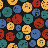Sport seamless pattern. Flat style Royalty Free Stock Images