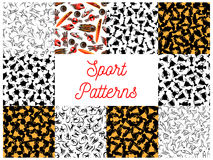 Sport seamless pattern set for sporting design Royalty Free Stock Photos