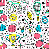 Sport Seamless Pattern Stock Photos