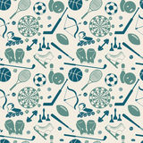 Sport seamless pattern Royalty Free Stock Image
