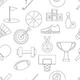 Sport seamless pattern Stock Photos