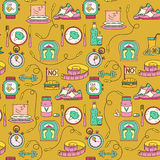 Sport seamless pattern. Weight Loss, Diet template. Royalty Free Stock Photos