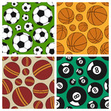 Sport Seamless Patterns Set [1] Stock Photos