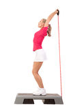 Sport Series: Step Aerobics with weights Royalty Free Stock Photography