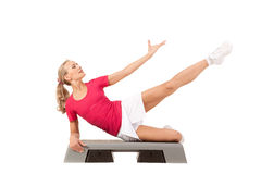 Sport Series: Step Aerobics Royalty Free Stock Photo