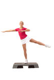 Sport Series: Step Aerobics Royalty Free Stock Image