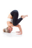 Sport Series: yoga. Balance on the three supports Royalty Free Stock Photo