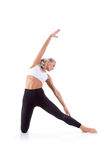 Sport Series: yoga. Gate Pose Royalty Free Stock Image
