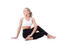 Sport Series: yoga. Sage Pose Stock Image