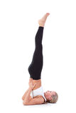Sport Series: yoga. Shoulder Stand Royalty Free Stock Photography