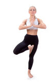 Sport Series: yoga. Tree Pose Royalty Free Stock Photos