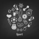 Sport set  icons Stock Photography