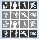 Sport set. Players. Editable Vector illustration. Stock Photos