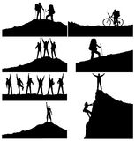 Sport set. Set of a silhouettes. Active life concept Royalty Free Stock Images