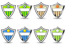 Sport shields set Royalty Free Stock Photo