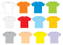 Sport shirt. Simple illustration of a blank t-shirt shown from the front and back vector illustration