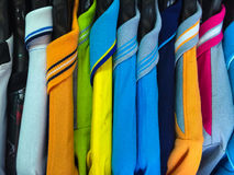 Sport shirt. Colorful sport shirt hang on the clothesline Stock Images