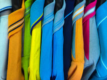 Sport shirt. Colorful sport shirt hang on the clothesline Stock Photography