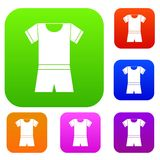 Sport shirt and shorts set collection Royalty Free Stock Images