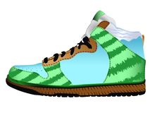 Sport shoe against white Royalty Free Stock Images