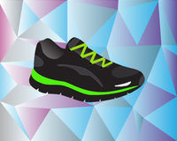 Sport shoe with beautiful background stock illustration