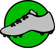 Sport shoe with cleats vector illustration. Vector illustration of a sport shoe with cleats Stock Images