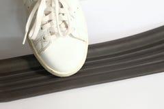 Sport shoe scene. Stock Photo