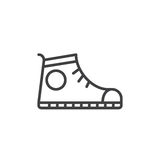 Sport shoe, Sneakers line icon, outline vector sign, linear style pictogram isolated on white. Royalty Free Stock Image