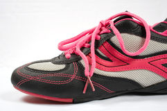 Sport shoes 03. Pink sport shoes royalty free stock images