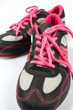 Sport shoes 05. Pink sport shoes stock images