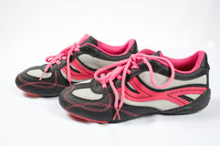 Sport shoes 06. Pink sport shoes stock photography
