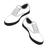 Sport shoes. Sneaker vector illustration isolated over white background Royalty Free Stock Photography