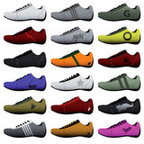 Sport Shoes. Vector collection of sport shoes Royalty Free Stock Images