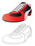 Sport shoes. Vector isolated image of a sport shoes Royalty Free Stock Images