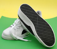 Sport shoes,jogging shoes. Pic of pair of sport shoes , on a color back Royalty Free Stock Image