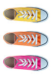 Sport shoes. From above isolated Royalty Free Stock Photos