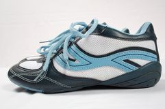 Sport shoes. Blue sport shoes Royalty Free Stock Photography