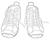 Sport shoes. Vector illustration of sport shoes, sneakers Royalty Free Stock Photography