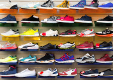 Sport shoes. Big collection of different sport shoes Royalty Free Stock Photos