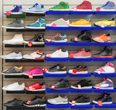 Sport shoes. Big collection of different sport shoes Stock Image