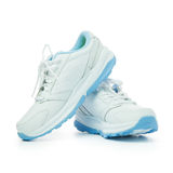Sport shoes. Close up of women's sport shoes on white background Royalty Free Stock Photography