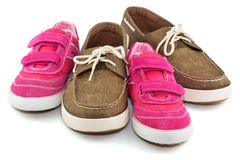 Sport shoes group Stock Photos