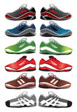 Sport shoes illustration. On a white background Stock Photography