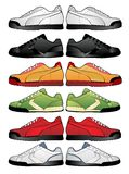 Sport shoes illustration. Sport shoes vector illustration on white background Royalty Free Stock Photo