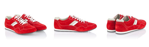 Sport shoes. Isolated on the white Royalty Free Stock Photos