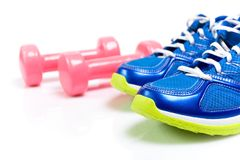 Sport shoes isolated on white background Stock Photography