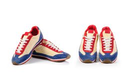 Sport shoes isolated on white background with clipping path. Stock Photography