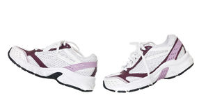 Sport Shoes in movement Stock Images