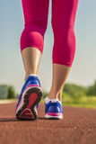 Sport shoes running close-up Royalty Free Stock Photography
